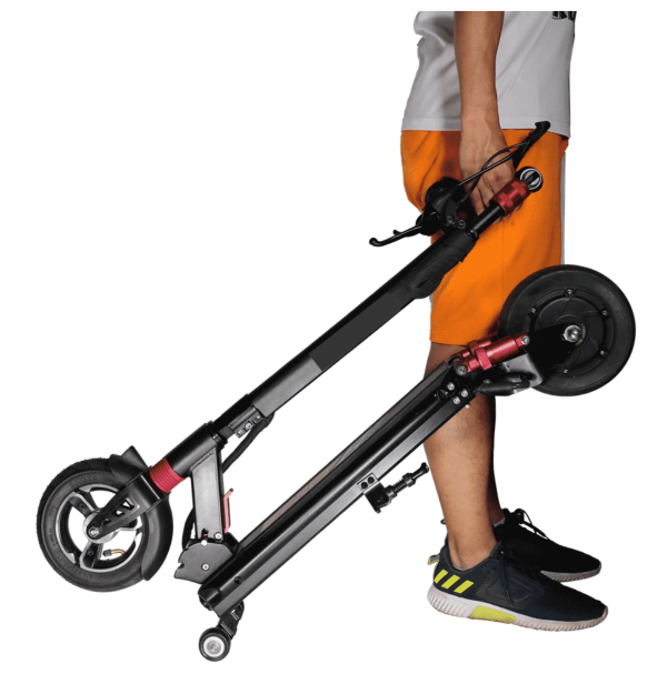Sonic 600 Zero 9 Electric Scooter Carry Wheels Black